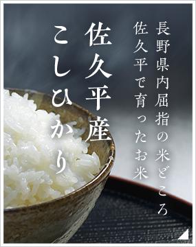 長野県内屈指の米どころ佐久平で育ったお米 佐久平産こしひかり