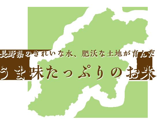 長野県のきれいな水、肥沃な土地が育んだうま味たっぷりのお米